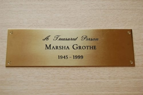 Lacquered Brass Plaque