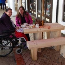 Wheel chair friendly table
