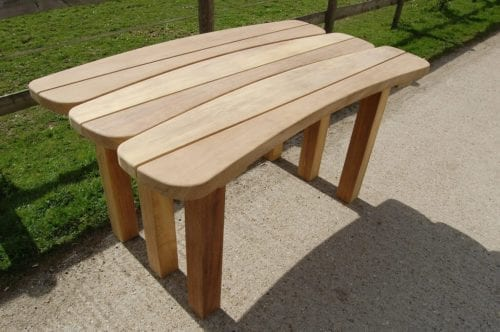 Takeley wooden memorial bench