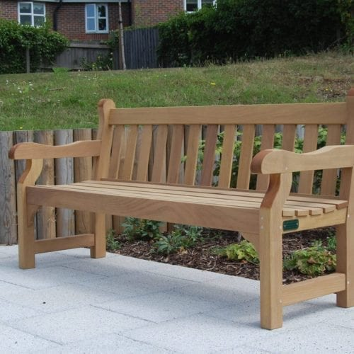 Westminster wooden Memorial Benches