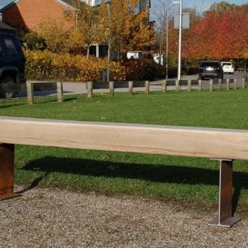 Thaxted wooden memorial bench