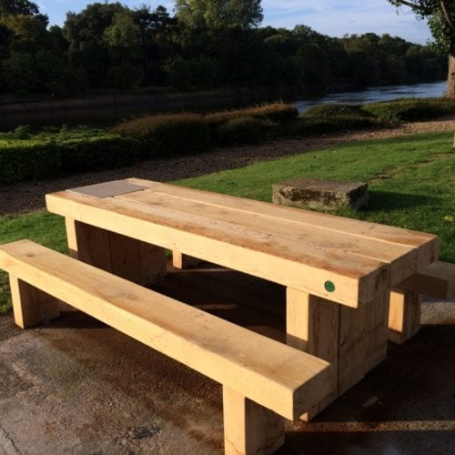 Cranham Heavy duty wooden Picnic Bench